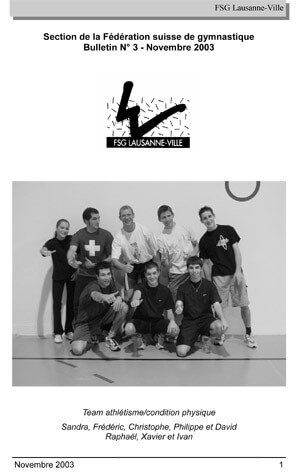 Journal 2003 – Novembre