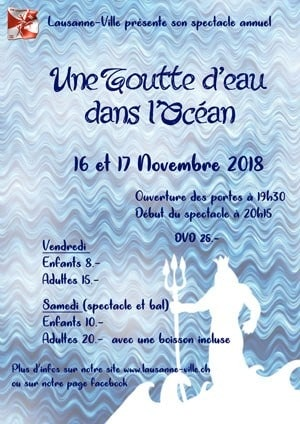 2018 – Soirée de gymnastique à l'Aula des Bergières: Une goutte dans l'Océan (16 au 17 novembre)