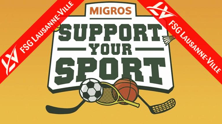 Campagne de crossfunding Migros #SupportYourSport