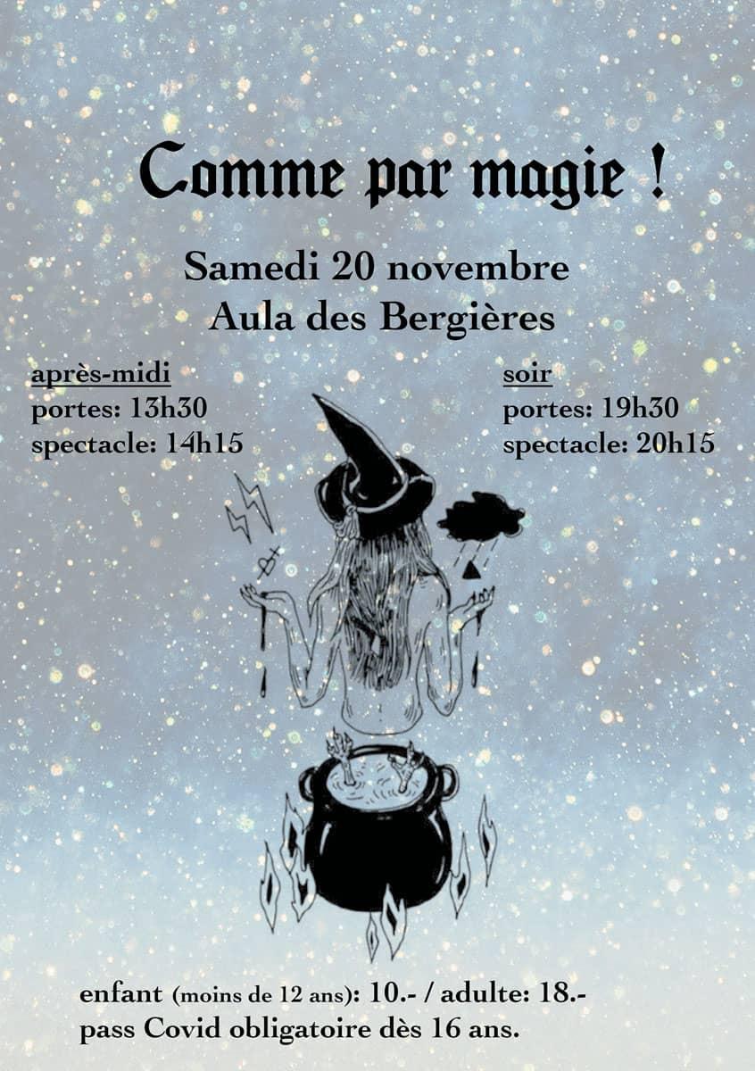 FSG Lausanne-Ville - Affiche de la soirée 2021