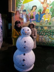 Me and Mum with Mr Snowman