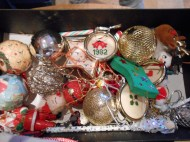 Some of the tree baubles