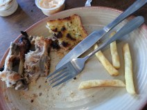 New Years Day lunch at Nandos