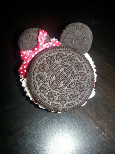 Minnie Mouse ready to eat!