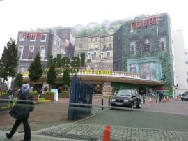Driving past the Ideal Home Show at Earl's Court