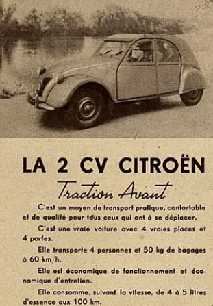 citro n 2cv type a 1949 1960 l 39 automobile ancienne. Black Bedroom Furniture Sets. Home Design Ideas