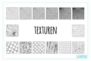 Oefenen met het tekenen van textuur
