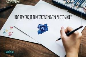 Je tekening inscannen en bewerken met Photoshop.