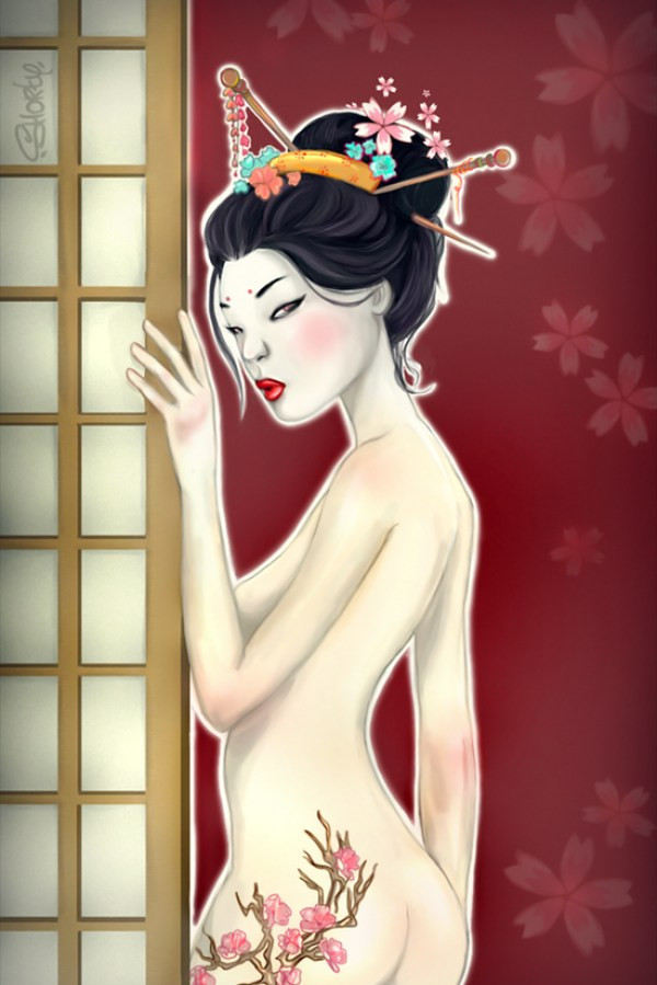 Beautiful Digital Art and Pictures of Geisha