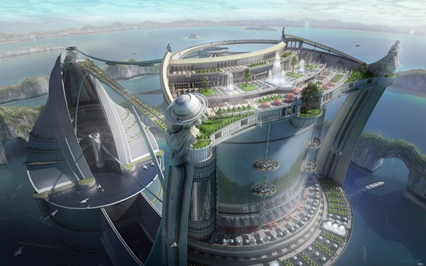 Breathtaking Future City Concept Art (6)
