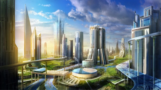 futuristic green city