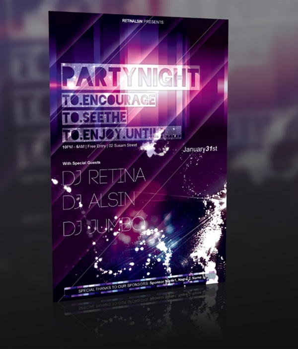 Amazing Party Poster Designs3
