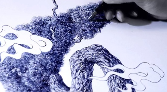 Ballpoint Pen Drawings & Sketches (9)