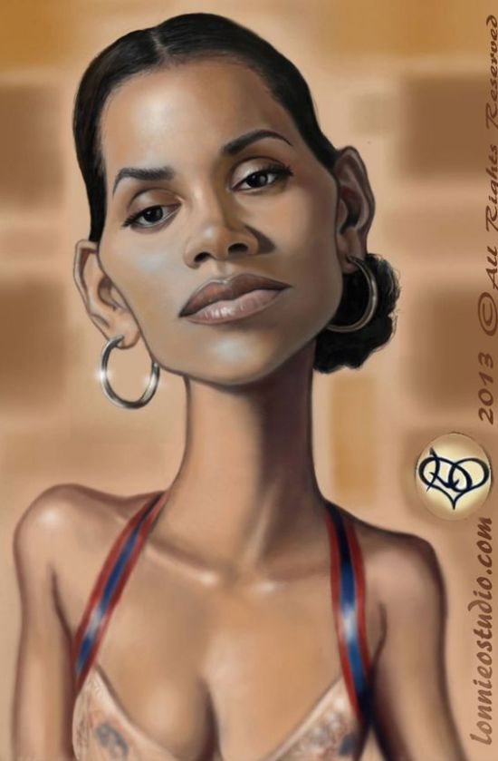 Halle Berry Caricature