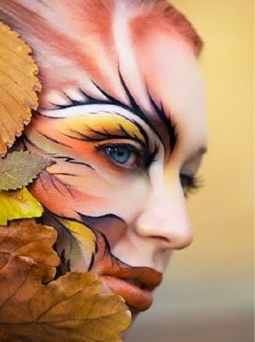 face halloween body paint example