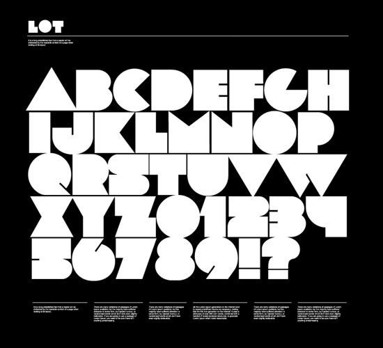 lot free font for download