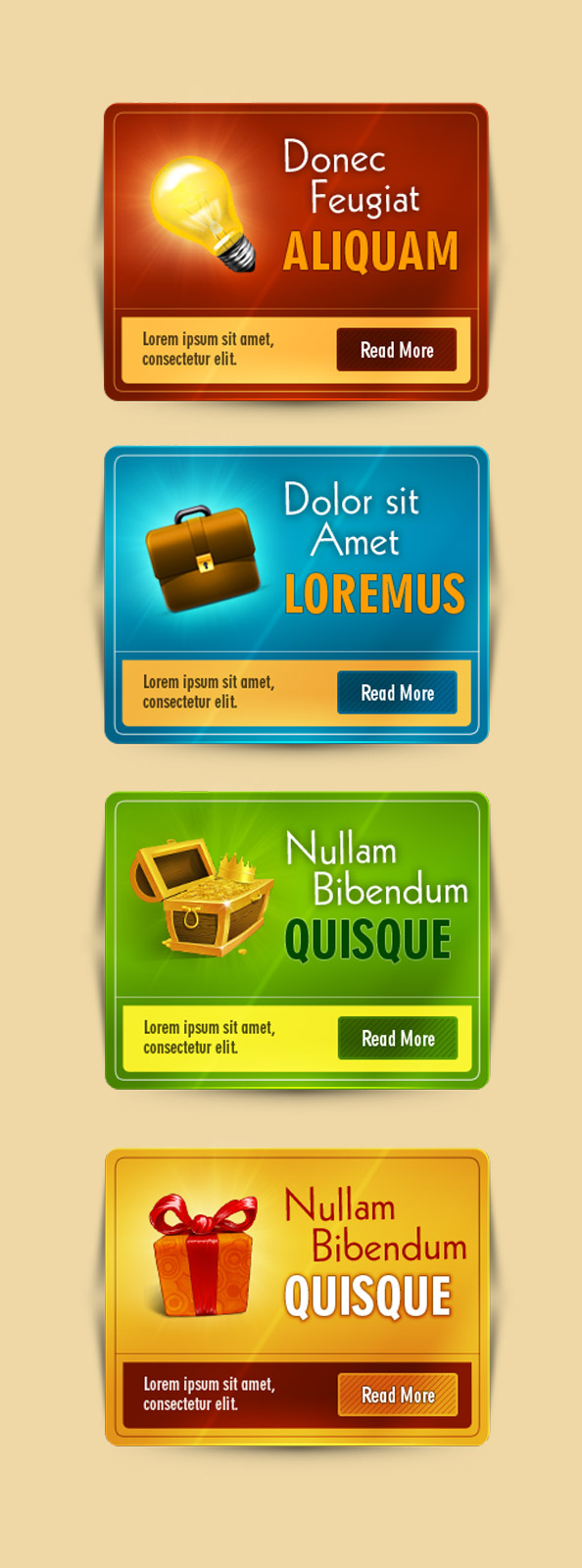 4 web box psd templates for free