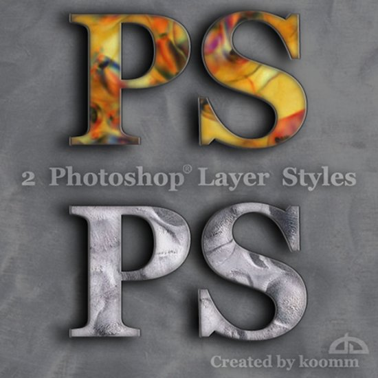 Photoshop Styles for Text