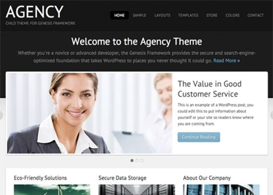 agency responsive wordpress theme