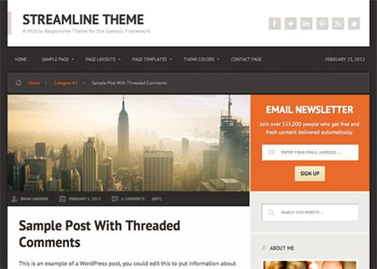streamline responsive wordpress theme