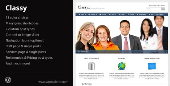 classy business and Portfolio wordpress theme