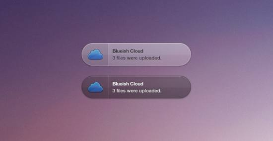 Blueish Cloud Growl Style psd file for free download