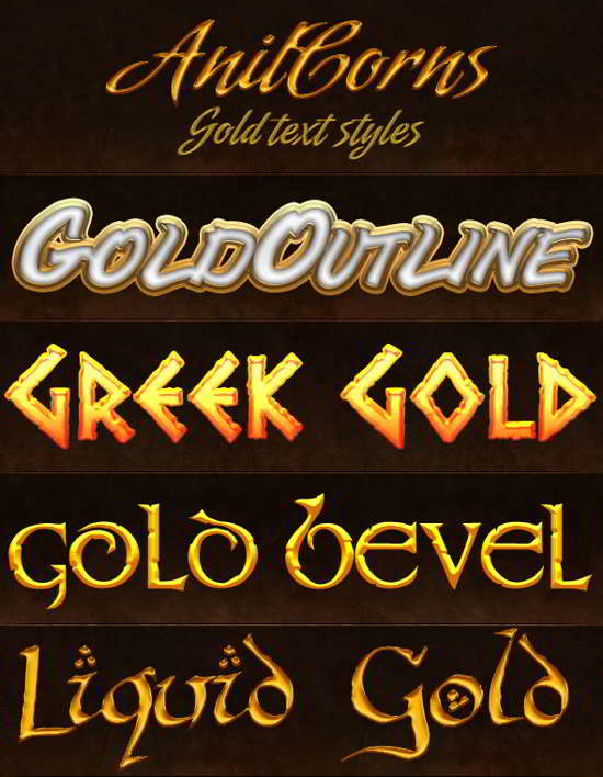 Gold ps styles