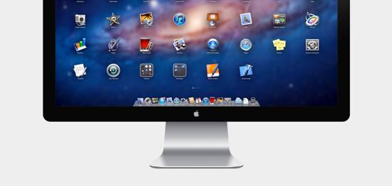 Apple 27in LED Cinema Display PSD file for free download