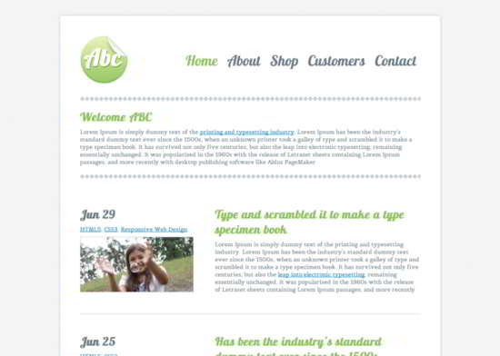 ABC Responsive HTML5 Template