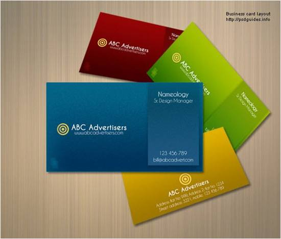 Layered Look Business Card Template Set for free download