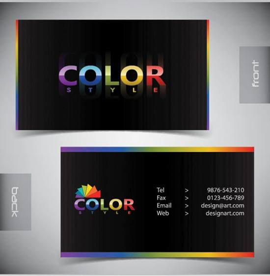 3 Stylish Modern Business Card Templates Set for free download