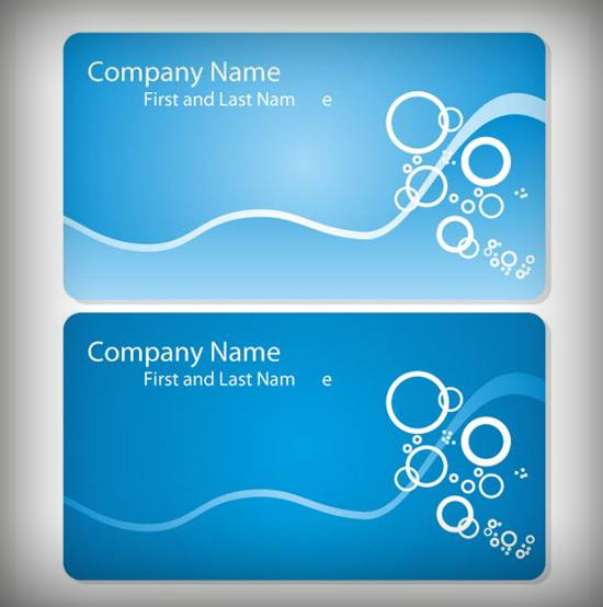 Blue Sea Business Card Templates Vector Set for free download