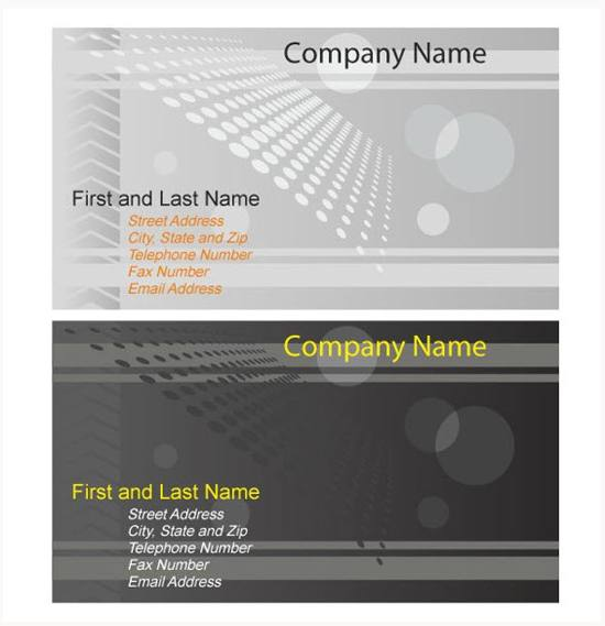 Grey Halftone Business Card Vector Templates for free download
