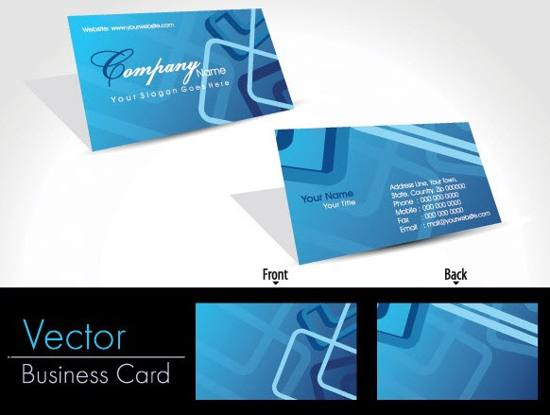 5 Modern Business Card Vector Template Sets For Free Download