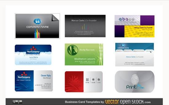 9 Modern Business Card Vector Templates For Free Download
