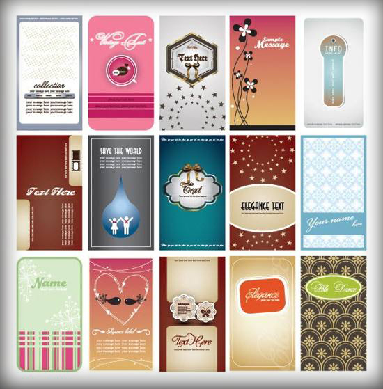 15 Elegant Business Card Vector Template Set For Free Download