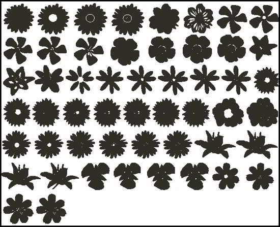 free photoshop Flower custom shapes