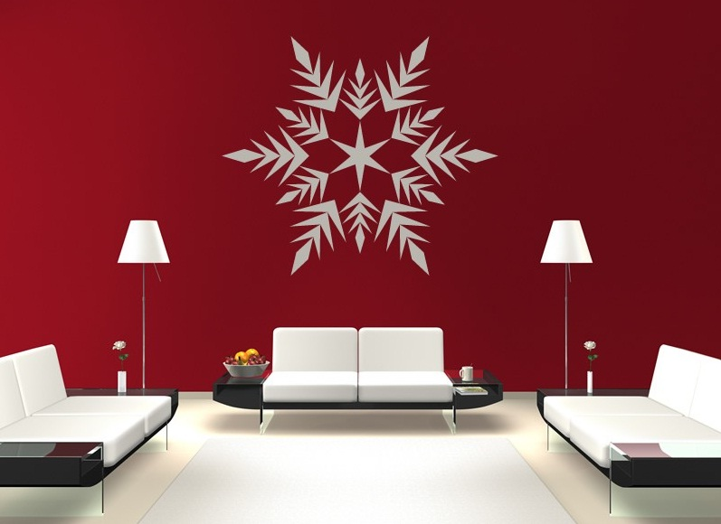 20 beautiful examples of home christmas wall decals for Christmas wall mural
