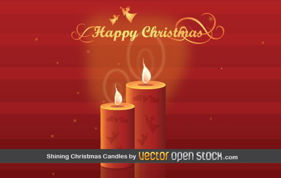 free Christmas Candles