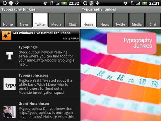 free android apps for typography designers