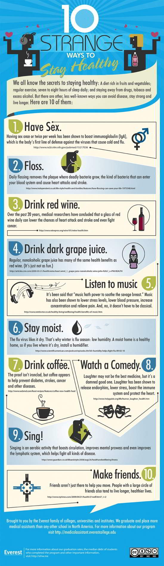 08 10 Strange Ways to Stay Healthy [infographic]