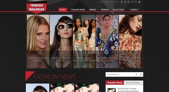 free psd Fashion Magazine website