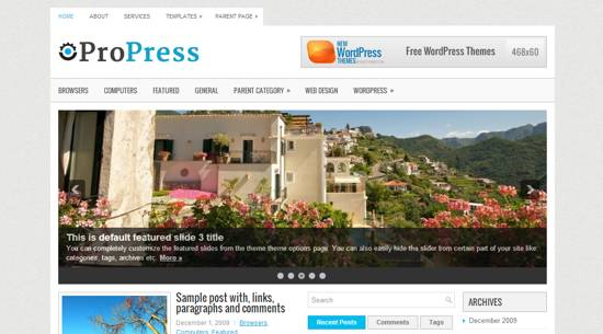 Propress free wordpress theme