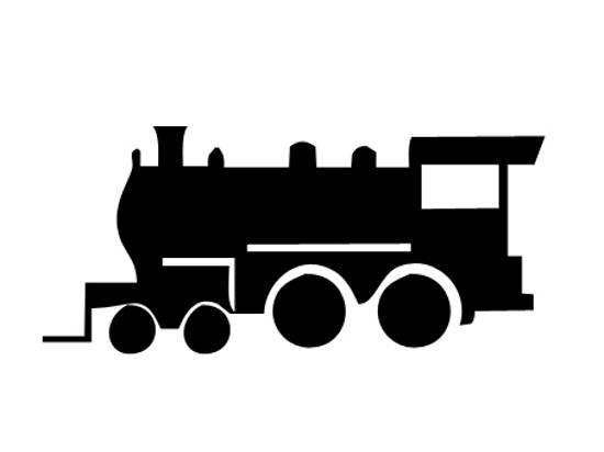Train Engine Photoshop custom shapes