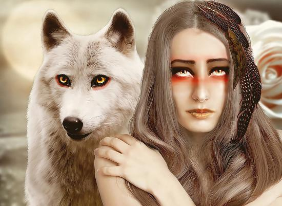 white roze and wolf manipulation