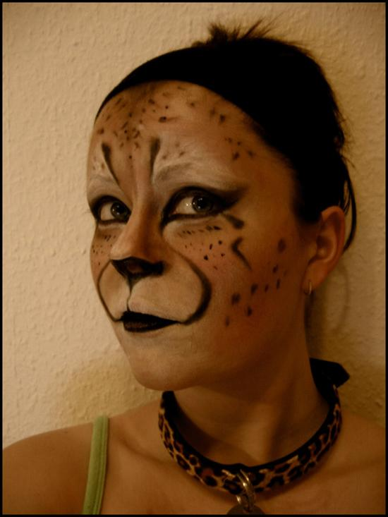 face painting cheetah