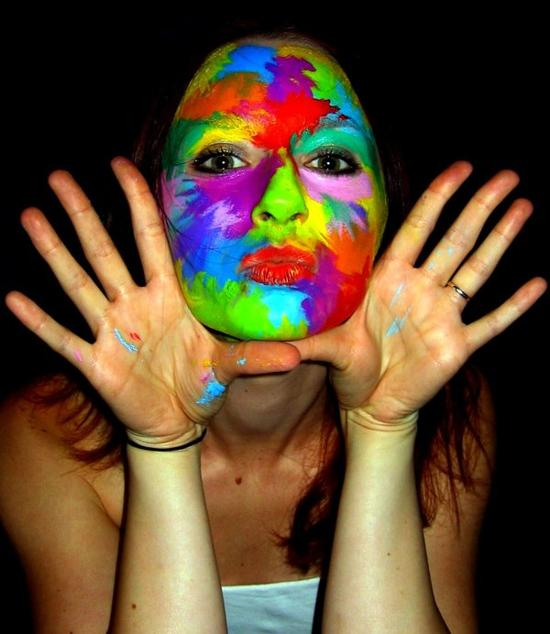 face painting rainbow