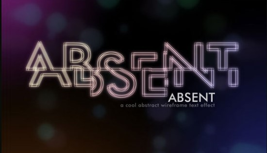 Abstract Wireframe Text Effect