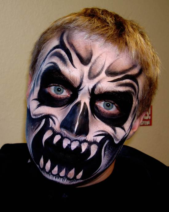 creepy face painting artwork