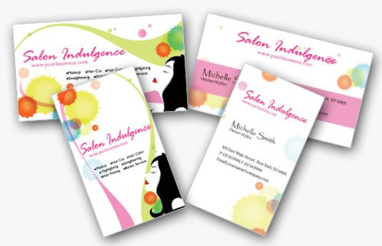 2 Double-Sided Beauty Business Cards